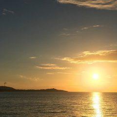 津井の夕日